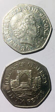 UK Jersey 50 pence 1998-2016 27mm co-ni coin km108