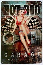 HOT ROD SCRAP JUNKY GARAGE  Metal tin Sign