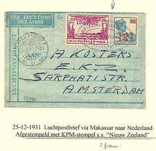 NED INDIE 1931-12-25   LP CV   MAKASSAR    KPM= NIEUW ZEELAND=  Z. FR.