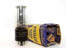 """6L6GA Philco SYLVANIA USA Tube NOS Bottle """"D"""" Getter Black Plate 6l6G 1940s"""