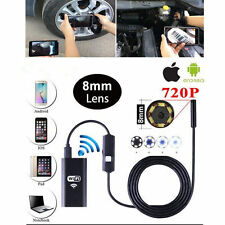 Android iPhone WIFI Endoscope Waterproof Borescope Inspection Camera 6LED 8mm