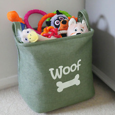 Rosewood Forest Canvas Bag | Pet Dog Toy Carrier | Basket Storage Box 33x27x20cm