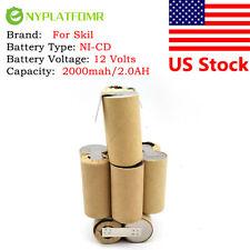 2000mah for Skil 12V Ni-CD Battery pack Super Power Pak  for self-installation