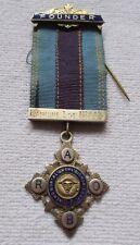 """Freemason Bijou England Logenabzeichen 1953 Silver for """" Founder """" Enamelled"""