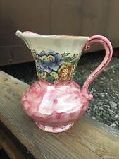 Maling Newcastle On Tyne Pink Jug Vase 17cm High