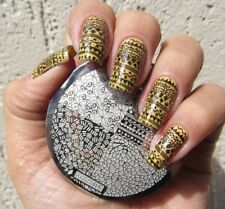 Nail Art Stamping Plates Image Plate Decoration Crackle Aztec Flowers (hehe19)