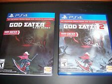 Replacement Case (NO GAME) God Eater 2 Rage Burst w/Sleeve PlayStation 4 PS4 Box