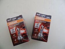 2x OSRAM HALOGEN-LAMPE H7 NIGHTBREAKER LASER ABBLENDLICHT FERNLICHT 32038802