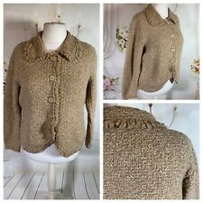 MARKS & SPENCER Ladies Natural Jacket Size 18 Wool Blend Buttons Smart Casual