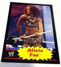 ALICIA FOX DIVA WWE 2012 Topps Heritage BLACK Parallel #4 RARE SP ONLY 100 MADE