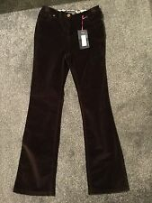 M&S Per Una Straight Leg Stretch Cord Jeans BNWT Size 10