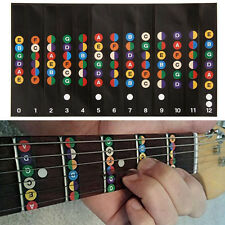 Guitar Scales Sticker Fretboard Remarque Strips Decal Formateur Apprenant