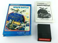 Intellivision Space Battle Complete Cartridge Game Good Shape Box Booklet