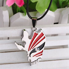 Anime Bleach Kurosaki Ichigo Mask Logo Metal Necklace Chain Pendant Cos Gift New