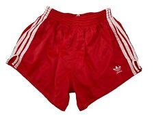 Adidas vintage Sprinter Shorts Gr. 7 L Sporthose 80s 90s shiny Running rot FS4