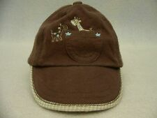 CARTER'S - GIRAFFES - 3-9 MONTHS SIZE - ADJUSTABLE BALL CAP HAT!