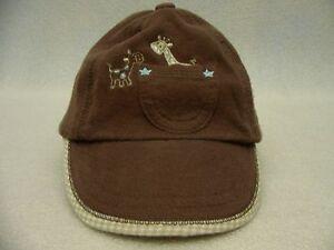 CARTER'S - GIRAFFES - 3-9 MONTHS SIZE - ADJUSTABLE BALL CAP HAT!