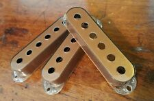 3 Single Coil Covers that fit 52mm spaced poles. (Copper Metallic) JAT C.G.P