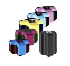 6PK New Hi-Yield 1 BK & 5 Color Ink For HP 02 PhotoSmart C6150 C6180 C6183 C6185