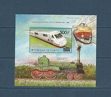Guinée république  bloc   train chemin de fer Allemand  1985  num : 59 **