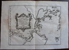 CARTE DE LA BAYE D'HOCSIEU , ENTRÉES DE  RIVIERE DE CHANG , PROVINCE FOKYEN 1755