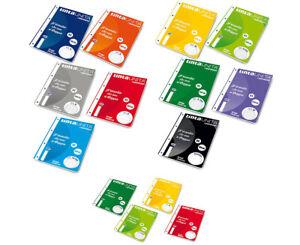 Ricambi Rinforzati per Quaderni ad Anelli A4 o A5 con Carta Resistente 100 g/mq