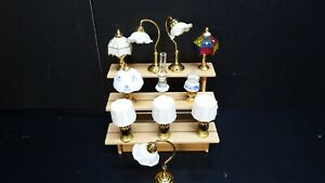dolls house accessories job lot 11 of decorative lamps 1.12th