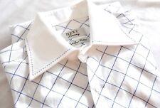 "NEXT Luxury Superfine Cotton - White/Blue L/S Shirt - 15"" - BNWOT"