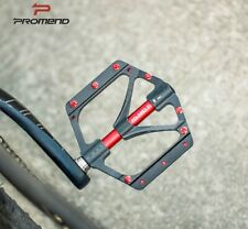 PROMEND Titanium axle MTB Road XC AM Bike 3 Bearings Pedals Flat Pedal 251g