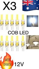 3 Pieces G4 6w COB LED Cool White Lamp Globe Light 12V Bulb Aus Stock