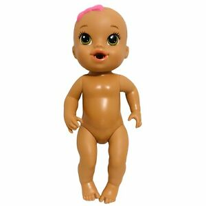 Hasbro Baby Alive Sips N Cuddles Doll Drink And Wets Green Eyes 2014 C-078A