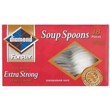 Diamond Plastic Soup Spoons