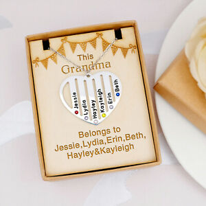 Personalized Necklace for Grandma Necklace with Grandchildrens Name Grandma Gift