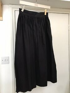 COS Skirt Long Black Cotton 36 10