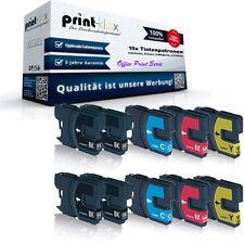 10x Tintenpatronen für Brother DCP375CW LC980 Sparset  - Office Print Serie
