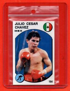 PANINI SUPERSPORT 1988 - rookie sticker/card # 164 JULIO CESAR CHAVEZ - VG cond