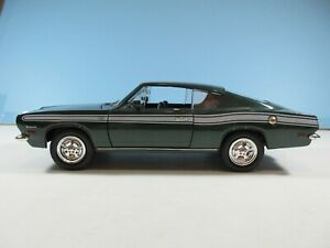 1:18 Scale Green 1969 PLYMOUTH BARRACUDA 383 Die-cast By Road Legends