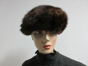 """Women's Natural Mink Fur Hat  22"""" MINT"""