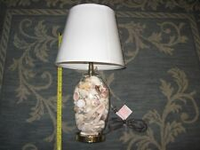 "NEW Sea Shell Filled Lamp 20"" Tall with NEW SEALED shade Nautical  Ocean Beach"