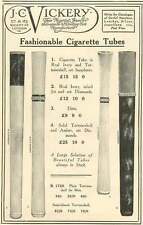 WW1 Tortoiseshell Ivory Diamonds Cigarette Tubes Ad