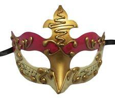 Dark Pink Gold Music Masquerade Mardi Gras Mask Party