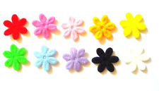100 pcs Plain small flower Padded Appliques mix colors size 17 mm