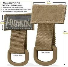 Maxpedition Tactical T-Ring 1713K Khaki Tan D-Ring Mounting Point for MOLLE Gear
