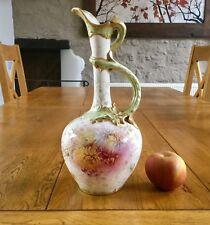 Royal Bonn Germany Ewer Vase Floral Handled Vase 1890 - 1920