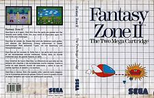 Fantasy Zone II Sega Master System Replacement Box Art Case Insert Cover SCAN