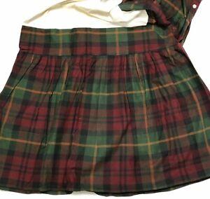 Farmhouse Cabin Style Tartan Plaid Bedskirt Twin Dust Ruffle Gathered Northwoods