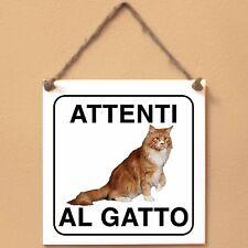 Maine Coon 2 Attenti al gatto Targa gatto cartello ceramic tiles