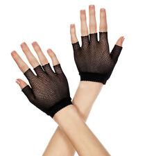Wrist Length Fishnet Fingerless Gloves - 3 Colors