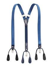 NWT $99 TOMMY HILFIGER Men's BLUE CONVERTIBLE CLIP BUTTON ADJUSTABLE SUSPENDERS