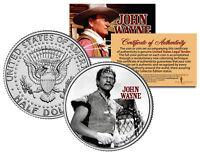 JOHN WAYNE - MOVIE * The Conqueror * JFK Kennedy Half Dollar US Coin *LICENSED*